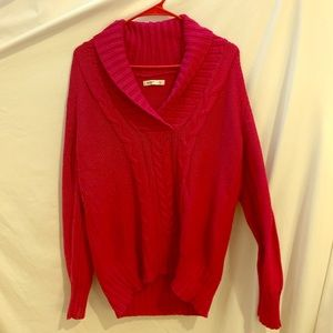 Hot pink Old Navy Cable-knit sweater